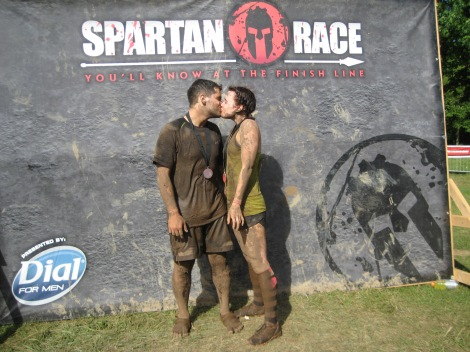 Post Race Spartan Smooch