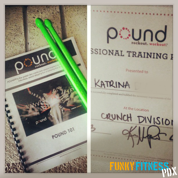 Get Pounded! Rock out your Workout. | funky fitness pdx