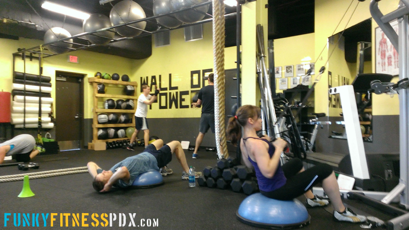 Studio review portland team fitness small group for Small room gym setup