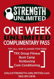 Print this out or mention that you saw it on FunkyFitnessPDX to redeem your FREE WEEK.