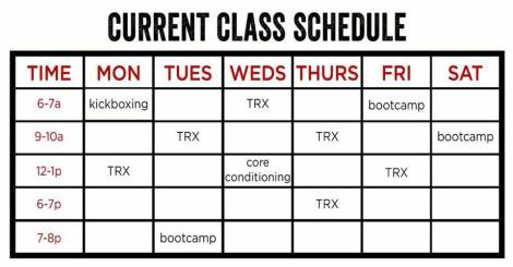 Schedule as of January 2014