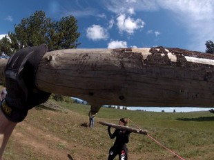 Overhead log press