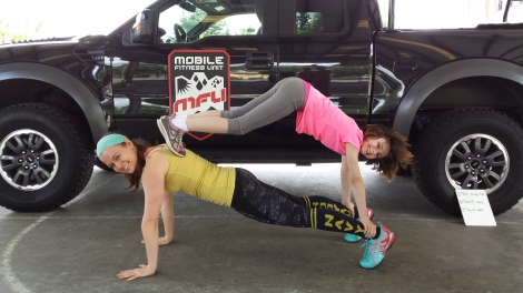Fun with my niece at the MFU/PTF Memorial Day Sweat Fest!